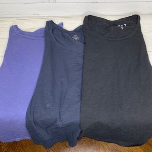 Bundle of 3 Loft Vintage wash T-shirts Size Small